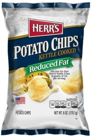 KETTLE REDUCED FAT ORIGINAL CHIPS 12/6oz