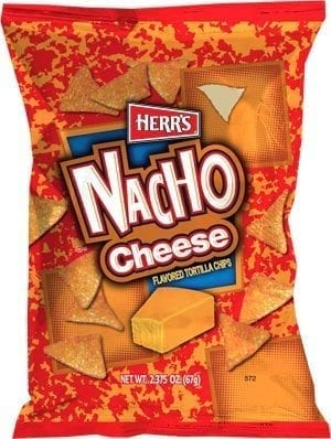 LARGE NACHO CHEESE TORTILLA CHIPS 11/9oz