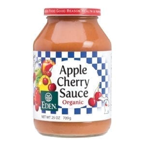 APPLE CHERRY SAUCE, ORGANIC 12/25 Oz.