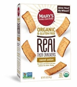 REAL THIN SWEET ONION CRACKERS 6/5 Oz.